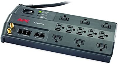 APC Surge Protector with Phone, Network Ethernet and Coaxial Protection, P11VNT3, 3020 Joules, 11 Outlet Surge Protector Power Strip Black