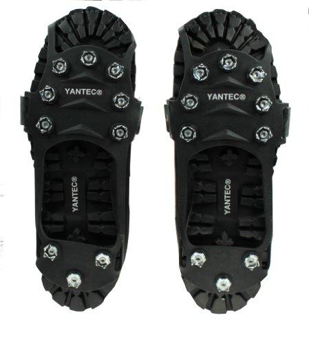 Yantec® Spikes für Schuhe, schwarz (10 Krallen Spikes) Größe S (ca.30-34) Schuhspikes