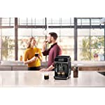 Philips 2200 Series Fully Automatic Espresso Machine w/ Milk Frother, Black, EP2220/14 12 Easy selection of your coffee with intuitive touch display, makes espresso, hot water and coffee From fine to coarse thanks to the 12 step grinder adjustment 20,000 cups of finest coffee with durable ceramic grinders