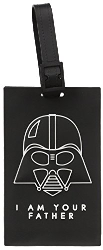 American Tourister Etiqueta de bagagem infantil Star Wars, Etiqueta de bagagem Star Wars, Darth Vader preto, One Size