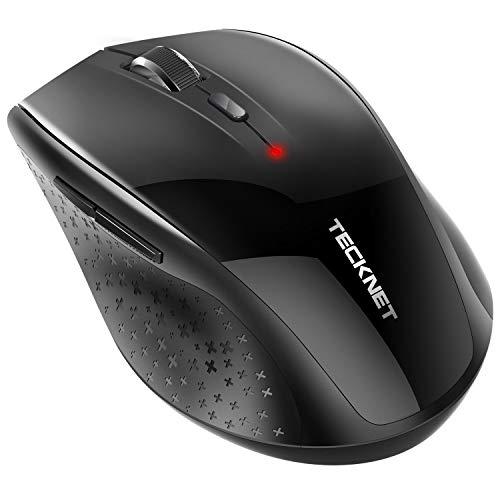 TECKNET Bluetooth Maus, Alpha 3000 DPI Kabellose Maus Wireless Bluetooth Mouse mit Batterieanzeige für PC Mac, 5 Verstellbare DPI Level