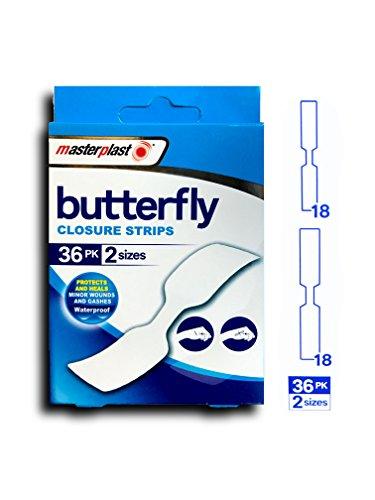 Butterfly-Verschluss-Streifen, wasserdichte Putze, 36pack, Masterplast