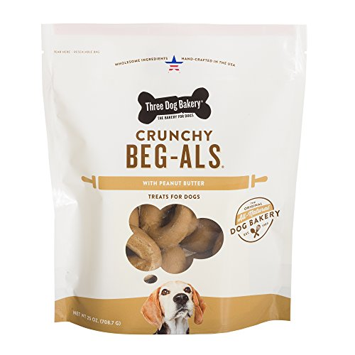 Three Dog Bakery Beg-als Baked Dog treat (1 Pack), 25 oz/One Size