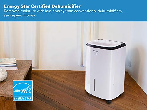 Honeywell Large SqFt Design & Filter Change Alert - Best Dehumidifier for Basement