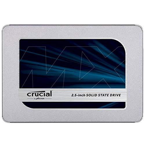 Crucial クルーシャル SSD 500GB MX500 SATA3 内蔵2.5インチ 7mm CT500MX500SSD1 9.5mmスペーサー付【3年保...