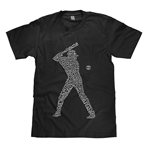 Mixtbrand Big Boys' Baseball Player Typography Youth T-Shirt M Black Alaska