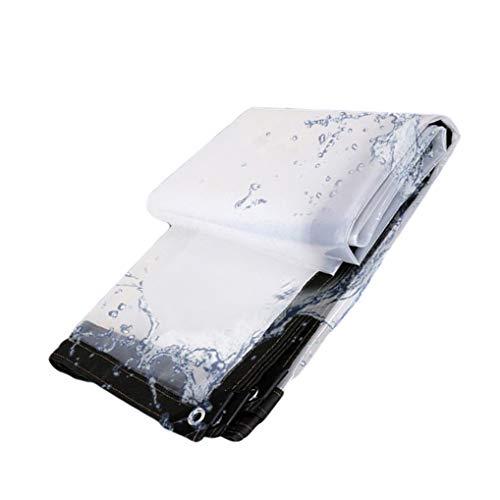 QI-CHE-YI Transparent Persenning, Sonnensegel, Sonnenschutz Sonnenschutz aus LKW Planen Kunststoff-Tuch im Freien, Tarps, Thick Persenning unter Regen oder Sonnenlicht,4x9m