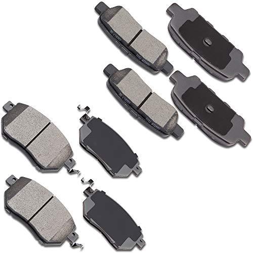 OCTPY Ceramic Brake Pads Front Rear Disc Brake Pads Set 8pcs fit for Infiniti FX35,for Infiniti FX45,for Nissan Altima,for Nissan Maxima,for Nissan Murano