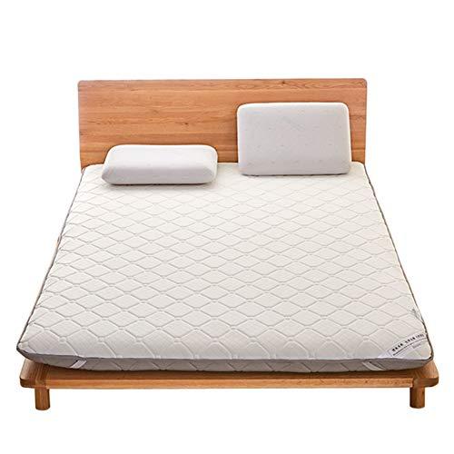 WJH Espesar el colchón Transpirable, Futón Tatami japonés, Doble Cara Disponible Antibacteriano Anti-ácaros Sleeping Pad Estera del Piso del hogar-Gris 150x200x9cm(59x79x4inch)