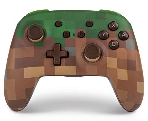 PowerA Enhanced Wireless Controller für Nintendo Switch, kabellos - Minecraft Gras-Block