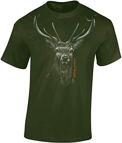 Jäger T-Shirt: Hunting Passion - Geschenk für Jäger - Jägerbekleidung Jagdkleidung Herren - Geschenke für Männer - Jagd Tshirt - Hirsch Eber Grill BBQ Army Hunter Waidmannsheil (Army 3XL)