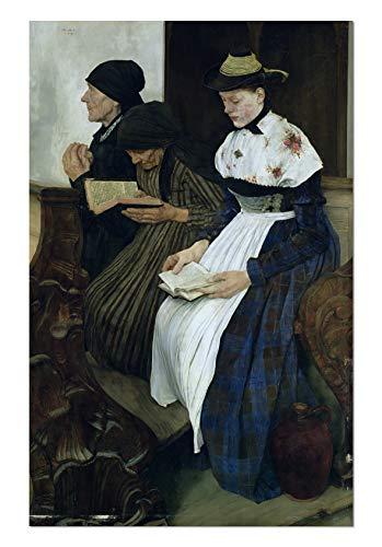 ART ALPHA 1art1 - Póster de Las Tres Mujeres en la Iglesia Wilhelm Maria Hubertus Leibl, 20 x 29 cm