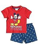 Set aus Shorts und T-Shirt für Babys, Jungen, Micky, Rot/Marineblau von 3 bis 24 Monaten Gr. 62, Rot/Marineblau