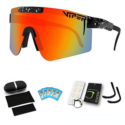 Gafas de Sol Deportivas polarizadas para Hombres Mujeres Cycling Glasses UV400 Lightweight Road Bike Bokees Cuando Monta Senderismo Senderismo Pesca de Pesca Golf,C06