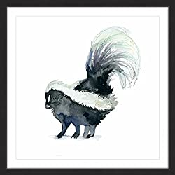 Skunk Framed art Print 40x40