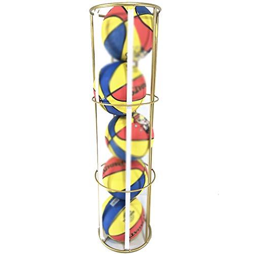 JIAGU Rack de Bola de Garaje Rack de Almacenamiento de Baloncesto de fútbol Infantil de Hierro Forjado para escuelas y familias Almacenamiento Vertical (Color : Gold, Size : 105x29x29cm)