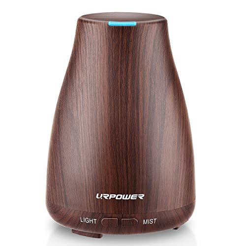 Urpower 2Nd Version Essential Oil Diffuser Aroma Essential Oil Cool Mist Humidifier With Adjustable Mist Mode,Waterless Auto Shut-Off And 7 Color Lights Changing For Home Office Baby