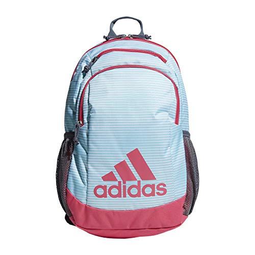 adidas Youth Kids-Boy's/Girl's Young Creator Backpack, Clear Aqua Sundown/Real Pink/Onix, 0