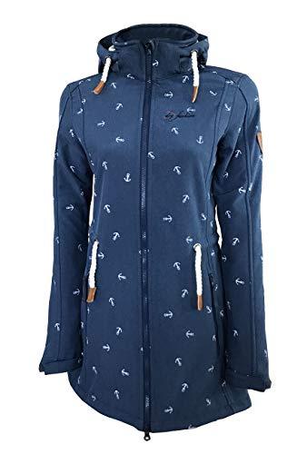 Dry Fashion Kampen No2 - Abrigo de forro polar para mujer, color azul oscuro, talla: 42