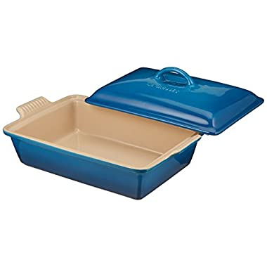Le Creuset Heritage 12-Inch by 9-Inch Covered Stoneware Rectangular Dish, Marseille