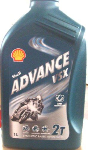 Shell Advance VSX 2T 1Liter semisintetico Schmieröl für Moto (Euro/7,70LT)