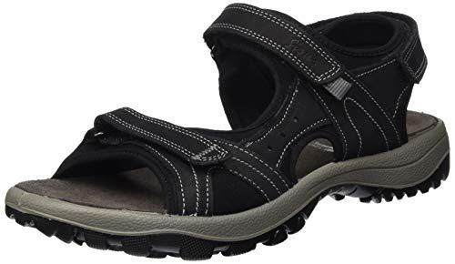 Sioux Damen Upendara 700 Sandale, Noir, 38 EU