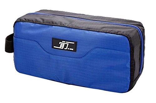 Créatif étanche pochette de Voyage Portable Wash Bag Cosmetic Bag, bleu