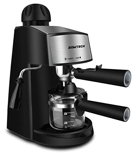 Steam Espresso Machine, SOWTECH 3.5 Bar 4 Cup...
