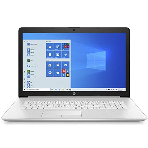 HP Laptop 17-by3906ng, silver, Intel Core i5-1035G1, 8GB RAM, 512GB SSD, 17.3 inches, 1920x1080 FHD, DVD-RW, HP 1 year warranty, German keyboard, (renewed).