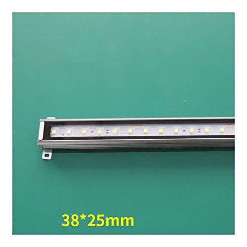 AWSAD LED Decking Lights Waterproof Low Power Wall Washer 12W DC24V Strip Light Building Lighting (Color : Blue, Size : 12W DC24V)