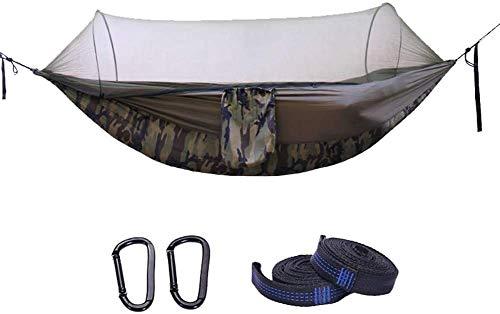 ODODDE Hamac de Camping en Nylon Portable, Sac de Couchage avec Boucle de sécurité moustiquaire, Tente de Camping léger et Compact, randonnée, Voyage