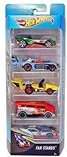 Hot Wheels Car 5 Pack Fan Stands - Includes Carbonic, Two Timer, Let's Go, Speedbox and Gt Hunter