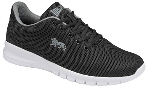 Lonsdale Men's Road Running Shoe, Black Grey, US:7