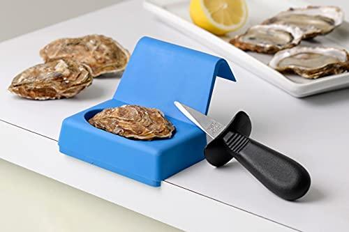 Mali's 883CHC - Kit de seguridad con cuchillo para ostras y soporte de apertura elastómero, color azul
