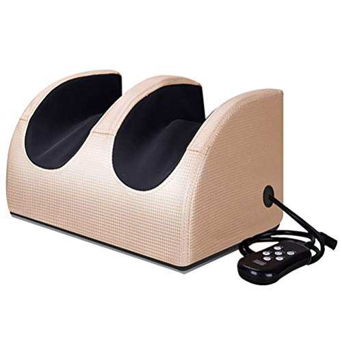Exceart Foot Massager Machine with Heat Electric Deep Kneading Foot Massager for Feet Legs Plantar Fasciitis(Golden)