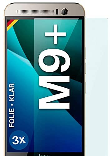 moex Klare Schutzfolie kompatibel mit HTC One M9 Plus - Bildschirmfolie kristallklar, HD Bildschirmschutz, dünne Kratzfeste Folie, 3X Stück