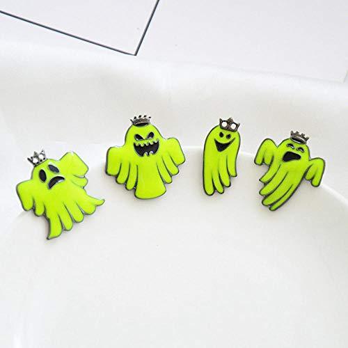 Ecologische legering, motief cartoon, Halloween, kleine broche, fluorescerend, fantoom, licht, doorn, paard, naald