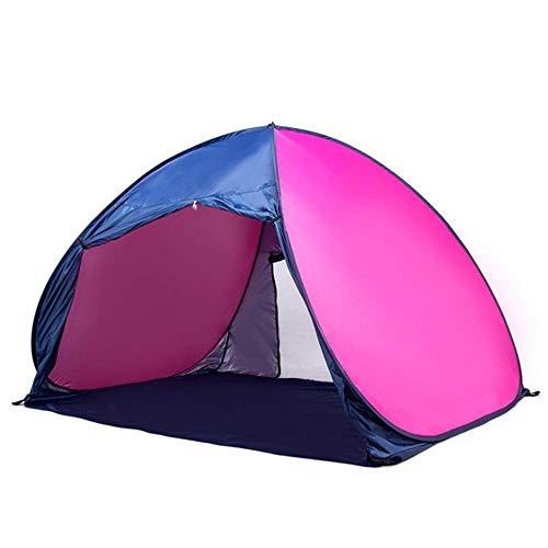JLKDF Tienda de campaña Protección UV Playa Sombrilla emergente Grande Portátil Camping Pesca Senderismo Picnic Al Aire Libre Toldo Ultraligero Cabana Carryi (Tienda de campaña)