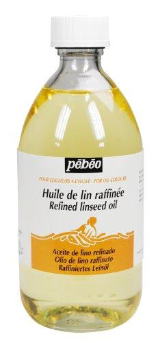 PEBEO - Olio Raffinato di Semi di Lino, 495 ml, Trasparente