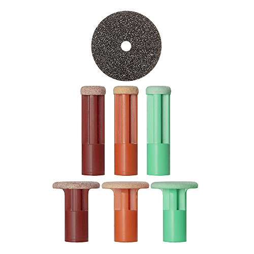 Price comparison product image PMD Personal Microderm Advanced Kit Replacement Discs,  Includes 2 Red Very Coarse Discs,  2 Orange Coarse Discs,  2 Green Moderate Discs,  and 1 Filter