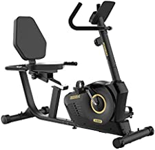 pooboo Recumbent Exercise Bike, Magnetic Commercial Cycling Bike Stationary Indoor with Padded and Adjustable Seat LCD Display for Home Cardio Workout