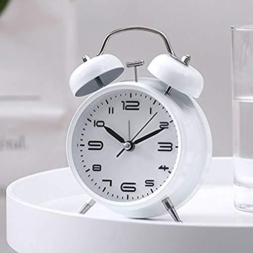 Gemakkelijk Te Twin Bell Alarm Clock, Vintage Old Fashion Design Luid Alarm Voor Zware Slapers 'S Nachts Licht Aan Te Passen Voor Het Bureau Tafel Planken Bedroom,C