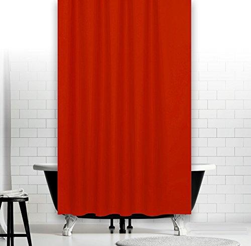 Ekershop Textil DUSCHVORHANG 240x200cm in Uni Rot Duschvorhang in der Größe 240 cm Breit x 200 cm Hoch inkl. Ringe