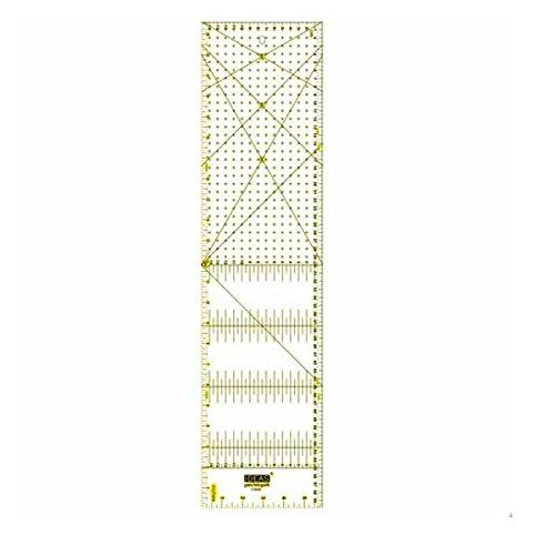 Regla Patchwork 15x60 centímetros y pulgadas 6'x24'. Regla especial para Patchwork.