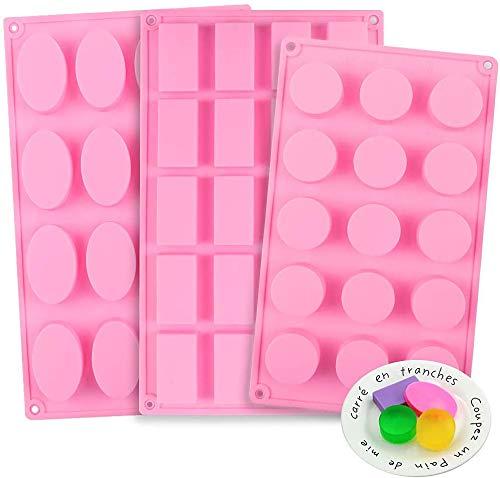 verschiedene Silikonformen in Pink