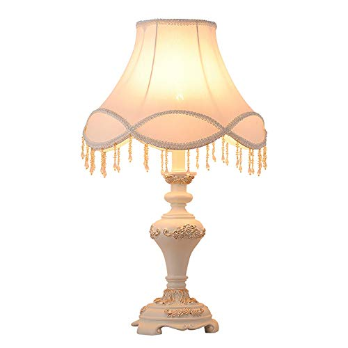 FHUA Lámpara Escritorio Lámpara de Mesa de lámpara, lámpara de mesita de Noche, lámpara de Mesa clásica de Resina Vintage, lámpara de decoración de Moda Creativa
