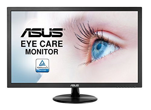 Asus VP228DE - Monitor 21.5' Full HD (1920 x 1080 píxeles, LCD, 5ms, contraste 100000000:1, 200 cd/m²), color negro