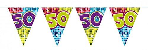 6m Verjaardag wimpel slinger ketting 50 jaar feestdecoratie verjaardag