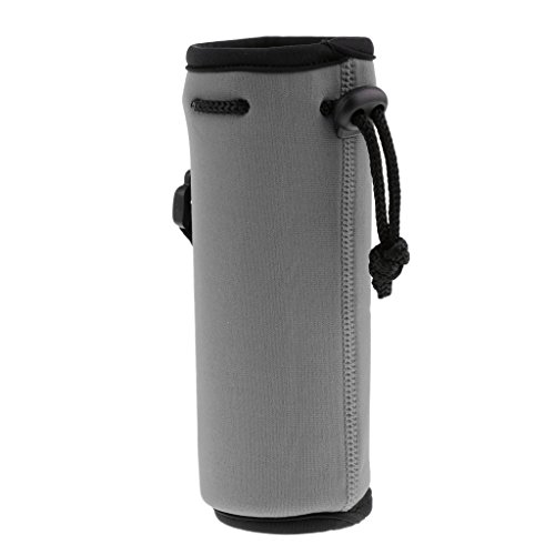 Milageto Portador de Botella de Agua de Neopreno 500ML con Aislamiento de Viaje - Gris