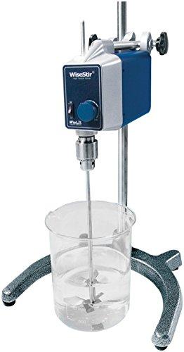 witeg de laboratorio Agitador HT de 120ax Juego de 60L 50–1000u/min, control analógico, apriete, incluye Propeller de agitador PL020, Pinza Y Trípode